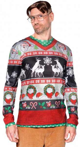 Hipster Christmas shirt for men
