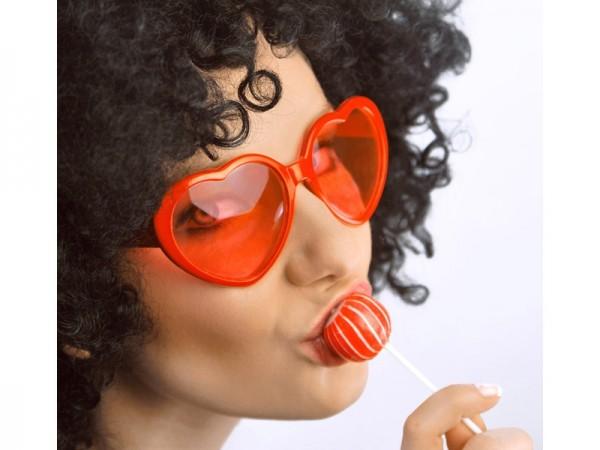 Partybrille Herz Rot