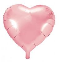 Herzilein Folienballon rosa 45cm