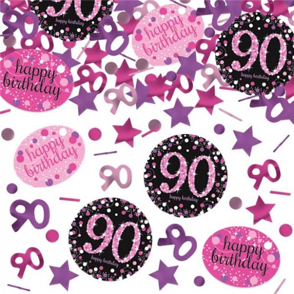 Coriandoli rosa 90 ° compleanno 34g