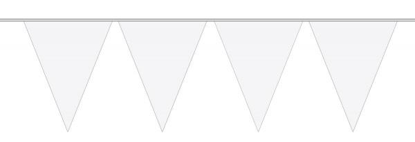 Große Wimpelkette Weiß 10m 1