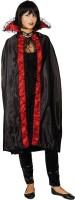 Vampir Umhang Spinnenhexe in Schwarz-Rot