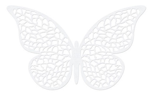10 vlinders papieren decoratie parelwit