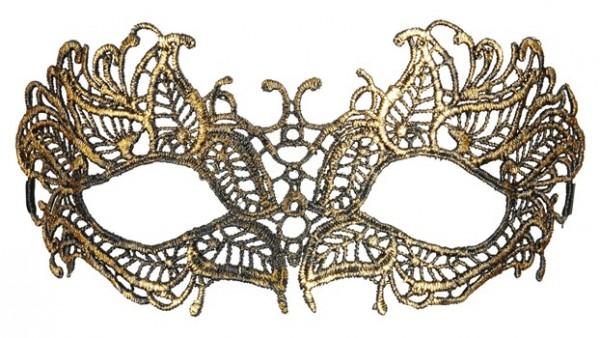 Goldige Elegantge Venezianische Augenmaske