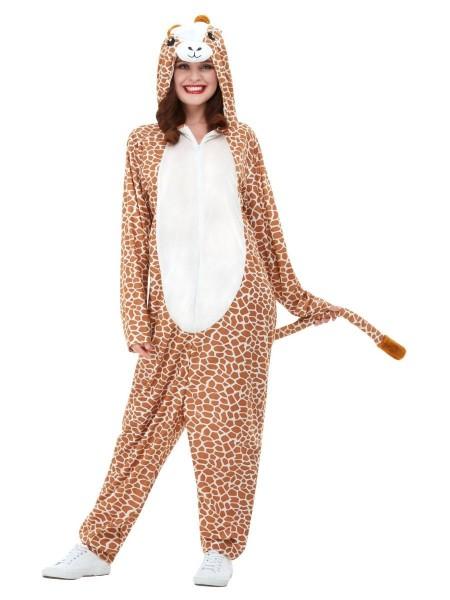 Déguisement en peluche girafe heureuse unisexe