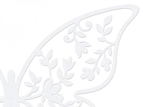 10 Papierdekorationen Schmetterling Weiß