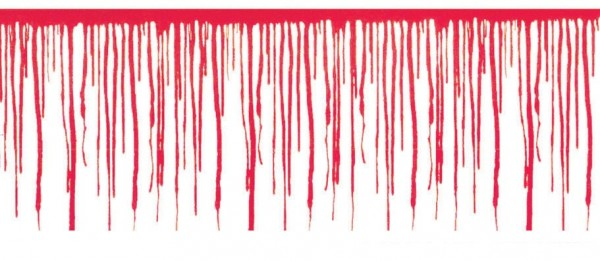 Girlanda z horroru Bloody Scraps 610cm