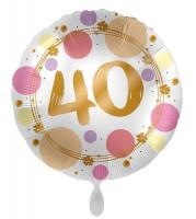 40. Geburtstag Ballon Happy Dots 45cm