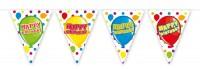 Wimpelkette Balloon Happy Bday 6m