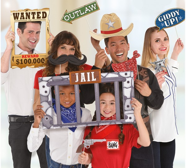 Set de accesorios para fotos Country Party 12 piezas