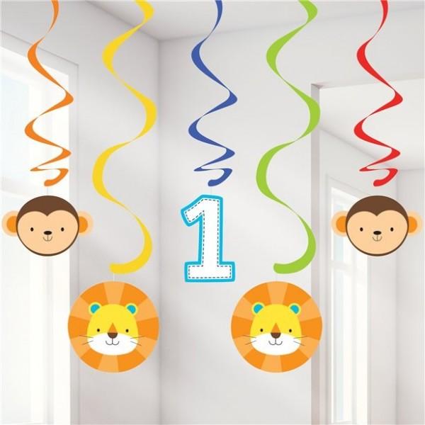 5 First Party Animal Spiralhänger