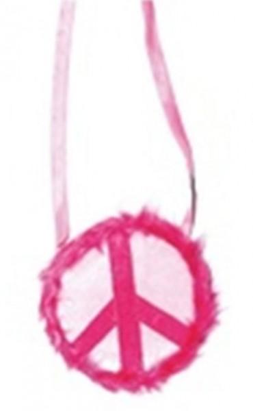Plüschige Peace Handtasche In Pink