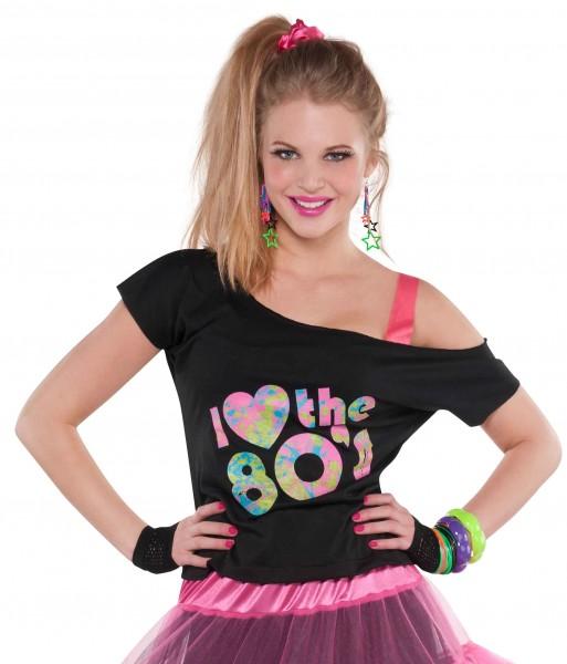 80er Jahre Dance Shirt für Damen