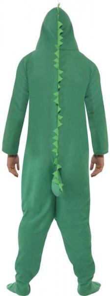 Disfraz mono cocodrilo con capucha unisex verde