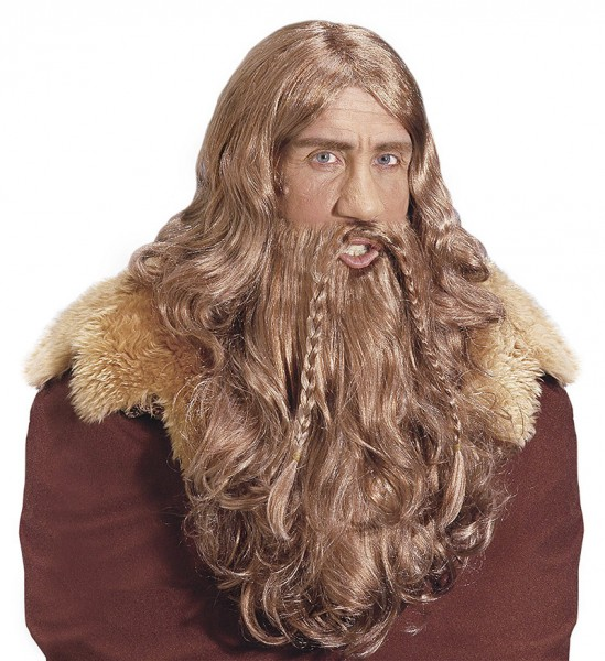 Viking snorre wig with beard