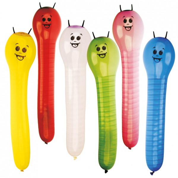 6 funny balloon caterpillars figure balloons