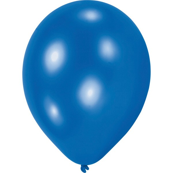 10 blue balloons Partyflash 20,3cm
