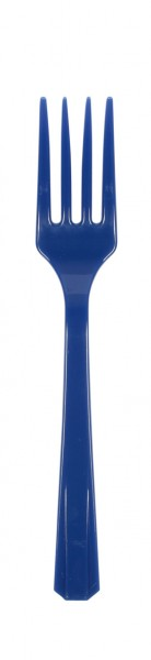 10 forchettine Party Royalblue 16cm
