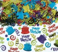 Happy Birthday Konfetti aus Folie