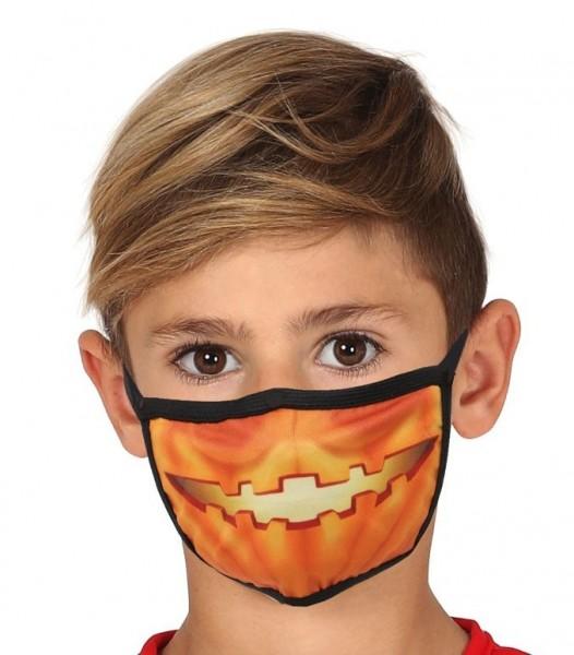 Mund Nasen Maske Kürbis für Kinder