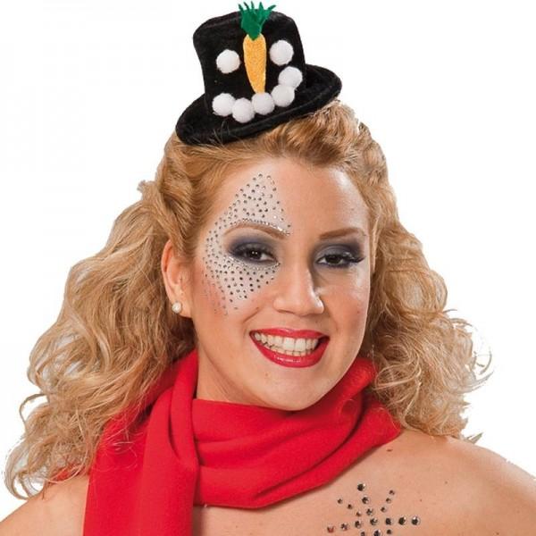 Mini snowman top hat on headband