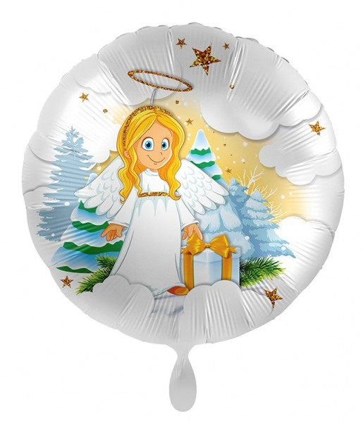 Ballon aluminium ange céleste 45cm