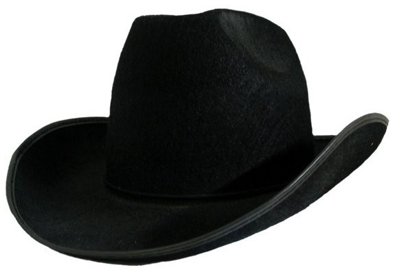 Schwarzer Cowboyhut Texas