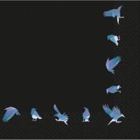 16 Shimmer Crows Halloween Servietten 33cm
