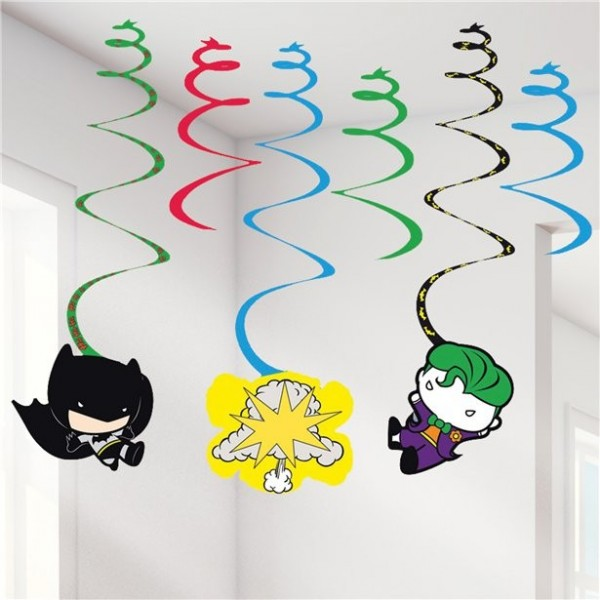 6 Batman und Joker Comic Spiral-Hänger