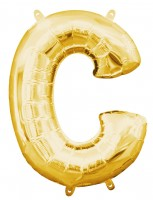 Mini Folienballon Buchstabe C gold 35cm