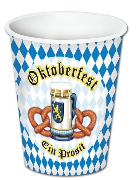8 Beierse Oktoberfest papieren bekers