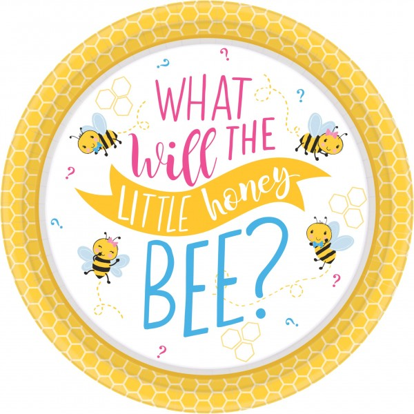 8 Baby Bienen Teller 18cm