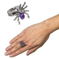 Spinnen Königin Ring lila