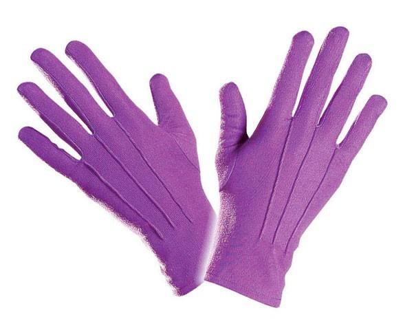 Fioletowe eleganckie rękawiczki