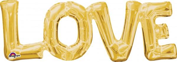 Folienballon Schriftzug Love in Gold 1