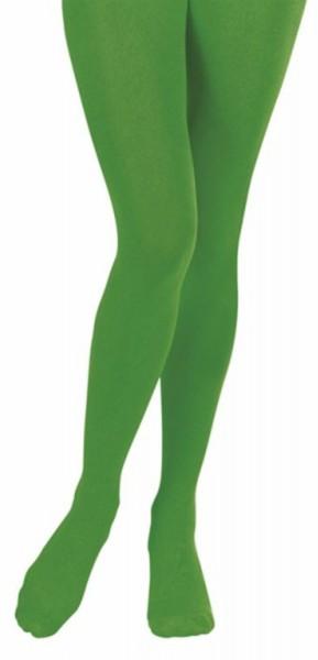 Collant vert opaque 40 DEN
