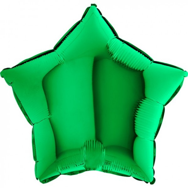 Green star balloon Shine 45cm
