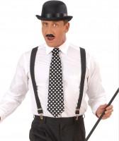 Schwarze Charleston Krawatte Gepunktet