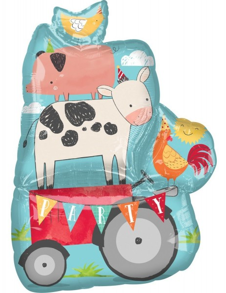 Happy Farm Life Folienballon 63 x 83cm