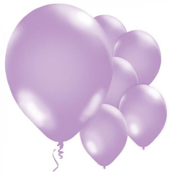 10 palloncini viola metallizzati 28 cm