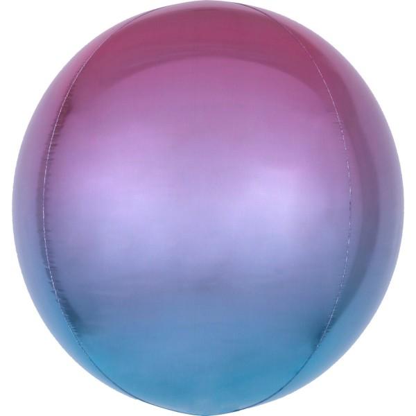 Ombré foil balloon purple-blue 40cm