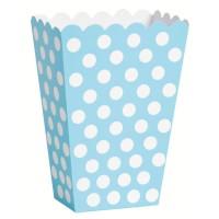 Snack Box Lucy Hellblau Gepunktet 8 Stück