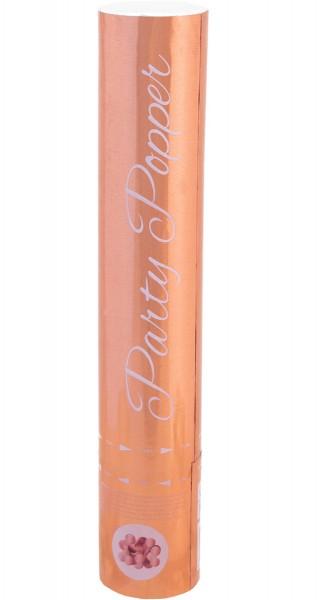 Canon à confettis or rose 28cm