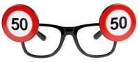 Verkehrsschild 50 Brille