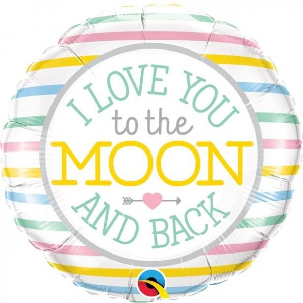 To the moon and back Folienballon 45cm