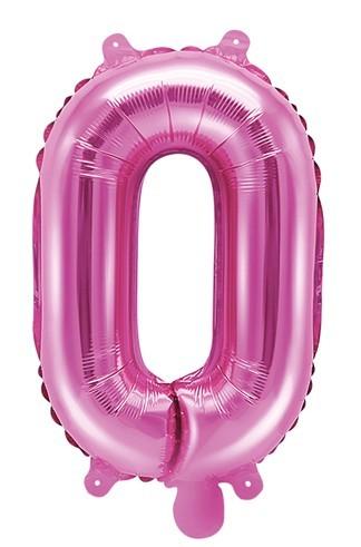 Folienballon O fuchsia 35cm