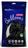 50 Partystar Luftballons schwarz 27cm