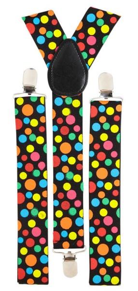 Bretelles Dazzle colorées à pois