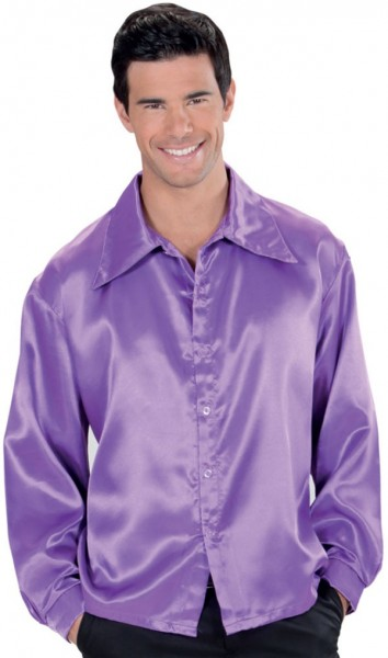 Camicia party Disco Fever anni '70 color lavanda