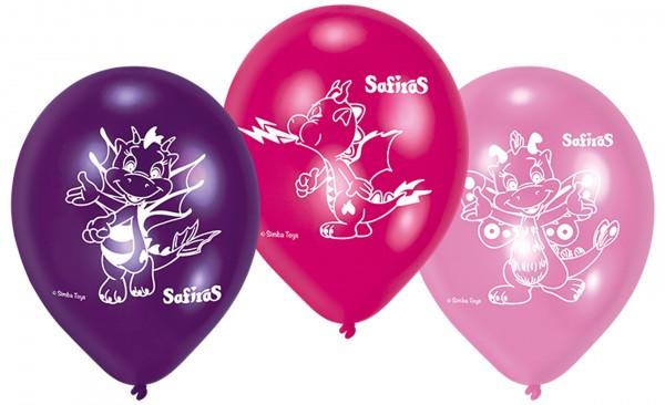 6 Sifiras Elementdrachen Ballons